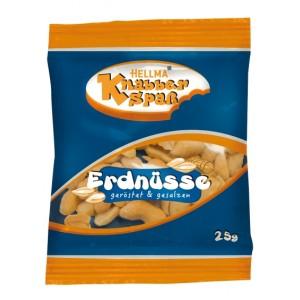 HELLMA Erdnüsse, geröstet und gesalzen, 25g