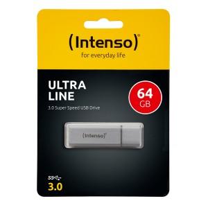 Speicherstick Ultra Line USB 3.0, silber, Kapazität 64 GB