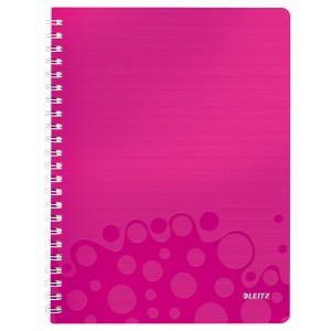 Collegeblock WOW A4 PP-Einband kariert, pink metallic