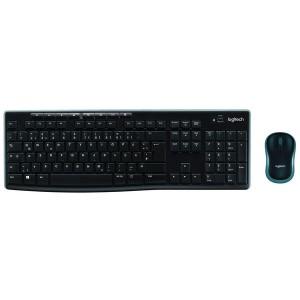 Logitech MK270 Tastatur und Maus im Set, schnurlos, schwarz