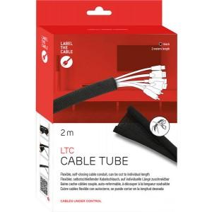 Kabelschlauch, 2 m, schwarz, gewebter Kabelmantel, selbst-