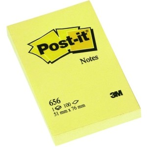 Post-it Haftnotiz, 100 Blatt, gelb, 51x76mm