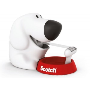 Scotch Tischabroller in Hundeform, inkl. 1 Rolle Scotch Klebeband