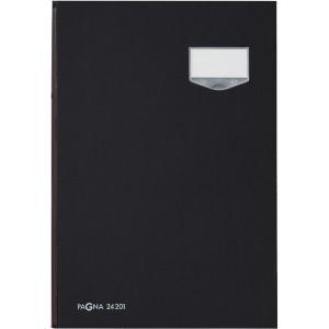 Pagna DE LUXE Unterschriftenmappe 20 Fächer, schwarz inkl. bedruckbarer Ersatzeinlagen