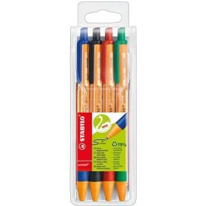 STABILO Kugelschreiber pointball 4er Etui mit 4 Farben