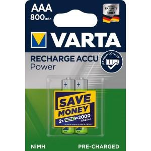 Ni-MH-Recharge Accu Micro AAA 2er 1,2V 800mAh Longlife