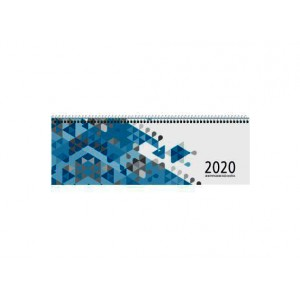 Querkalender 30x10 cm 1Wo/2Seiten blau # 116-0015