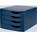 Schubladenbox Re-Solution matt schwarz 4 Schübe geschlossen